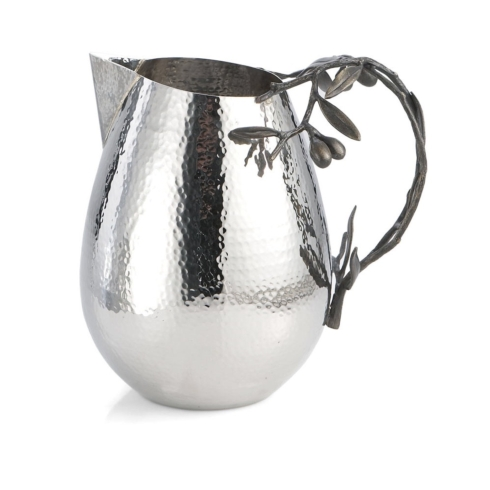 Olive branch water pitcher