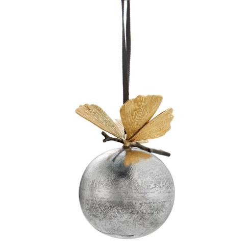 Butterfly ginkgo ornament