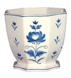$25.00 Octagonal planter Adams rose blue
