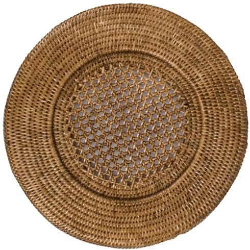 $18.00 Rattan service plate