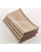 $10.00 Whip stiched design napkin, natural