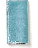 $8.00 Whip stiched design napkin, Aqua
