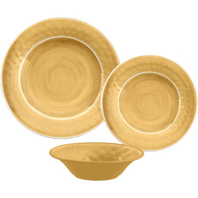 $8.00 Crackle glaze salad plate, gold