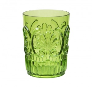 Green fleur water glass collection with 1 products