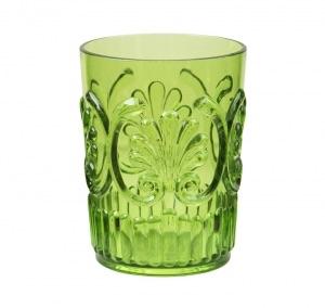 Green fleur water glass