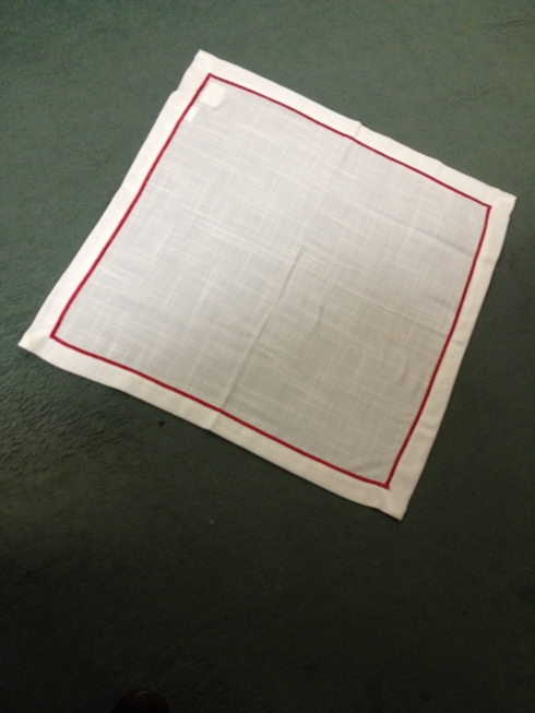 $6.00 Embroidered Line Napkin