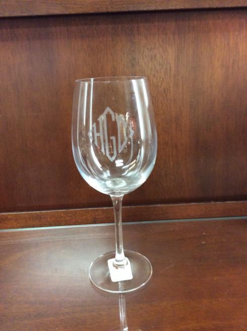 Fischer Evans Exclusives   Wine Goblet with monogram $25.00