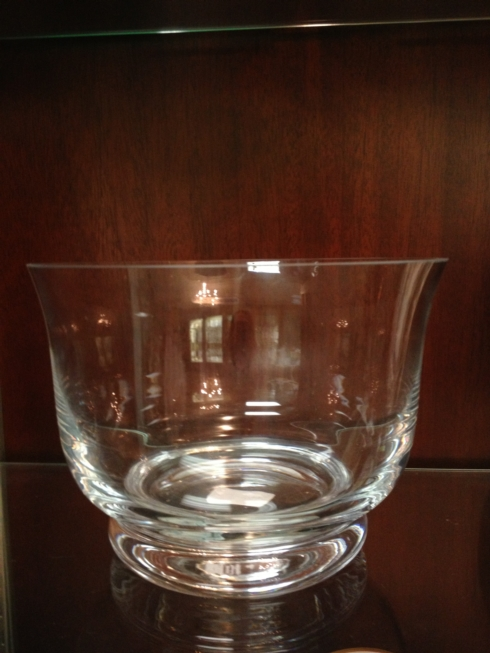 $75.00 Flared crystal bowl