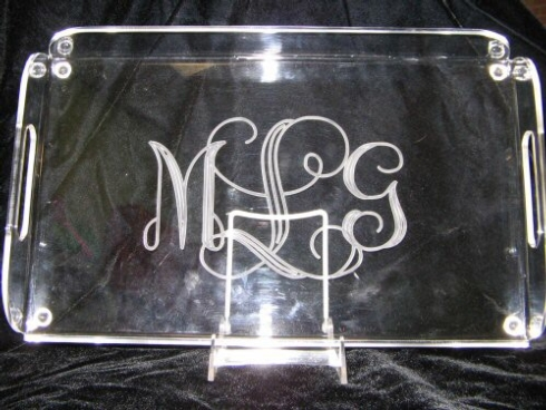 English Butler Tray w/Monogram