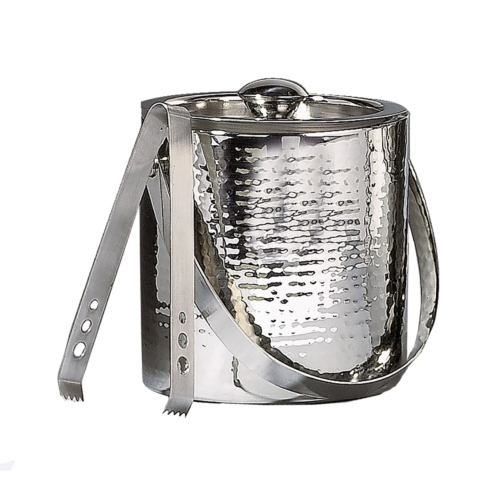 $50.00 Hammered ice bucket and tongs