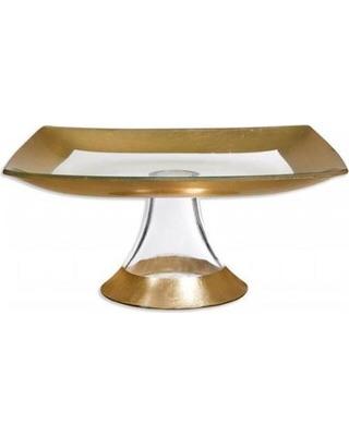 """$35.00 Cellini 12"""" square gold plate"""
