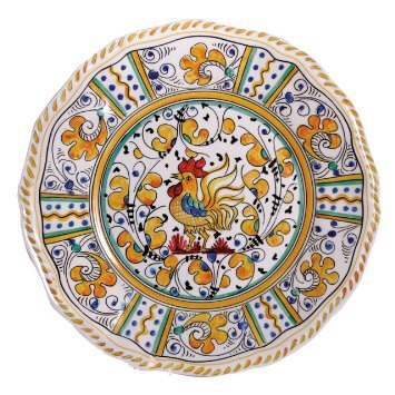 Yellow rooster dinner plate collection with 1 products