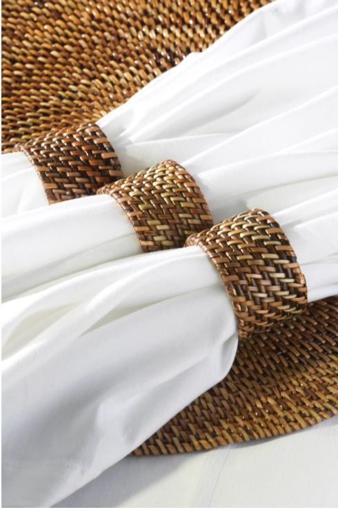 Rattan Napkin Ring-Plain collection with 1 products