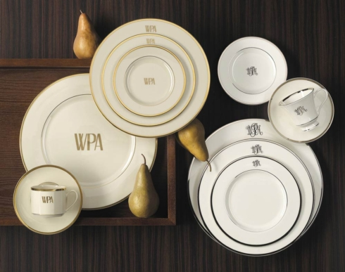Pickard Signature  Signature ivory and gold with monogram Salad Plate $59.00