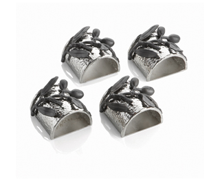 $99.00 Olive branch napkin ring set