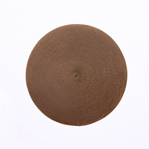 $17.00 Gold & Brown Round Placemat
