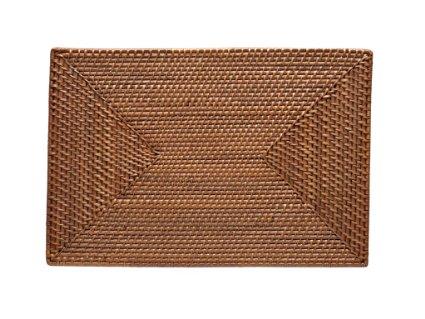 $12.00 Rattan rectangular mat