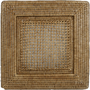 $17.50 Rattan Square Charger
