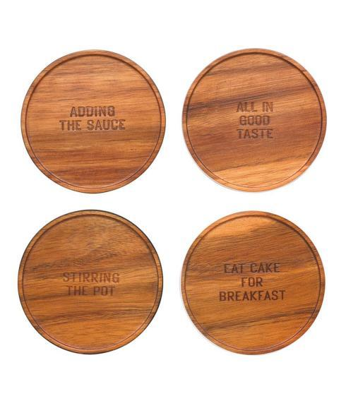 All In Good Taste Wood Coaster Set/4 collection with 1 products