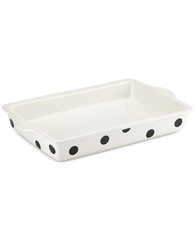 All In Good Taste Deco Dot Long Rectangular Server