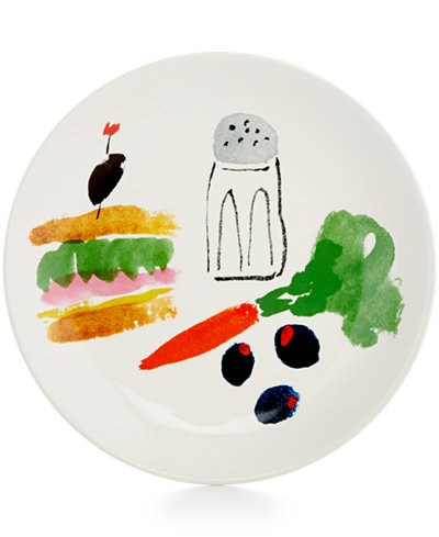 Kate Spade   All In Good Taste Sandwich Accent Plate $12.99