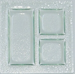 FSR Exclusives   Art Glass Design - 3-Section $59.00