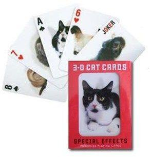 $11.99 Kikkerland 3D Cats Playing Cards
