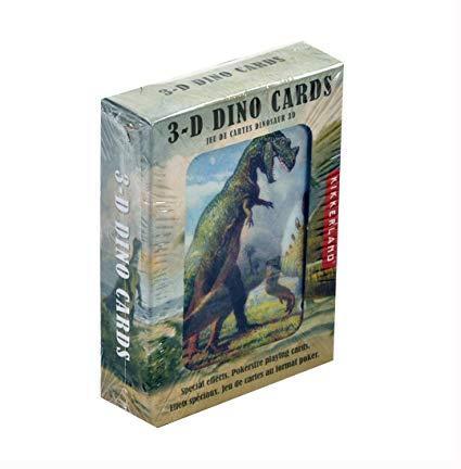 $11.99 Kikkerland 3D Dinosaur Playing Cards