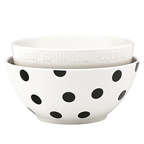 All In Good Taste Deco Dot Mixing Bowls/2