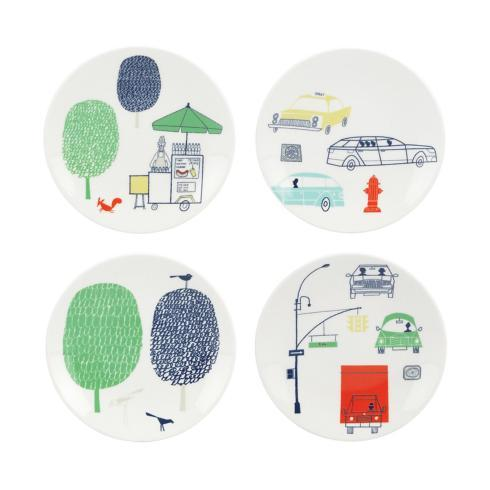 Kate Spade Hopscotch Tidbit plates/4