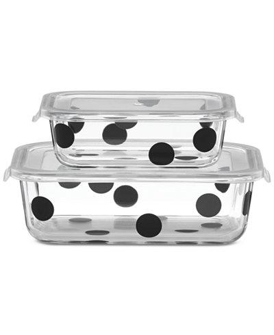 All In Good Taste Deco Dot Rectangular Storage/2