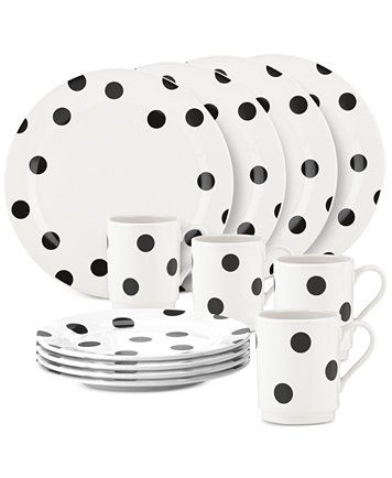 All In Good Taste Deco Dot 12pc Dinnerware Set
