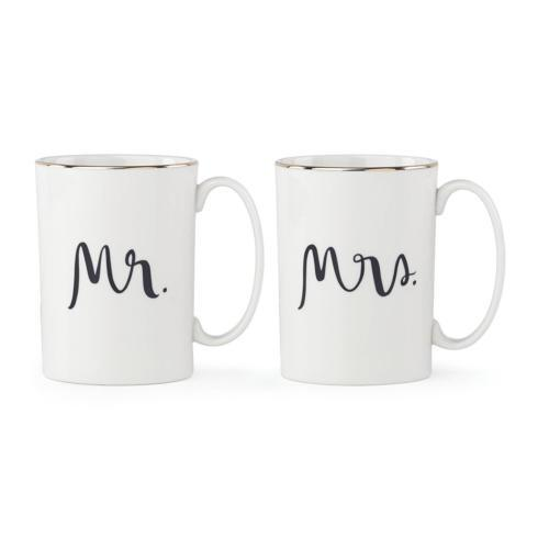 Kate Spade Bridal Party Mug Set Mr. & Mrs.