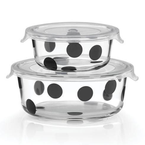 All In Good Taste Deco Dot Round Storage/2
