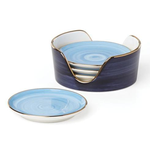 Kate Spade Charles Lane Coasters/4 Indigo collection with 1 products