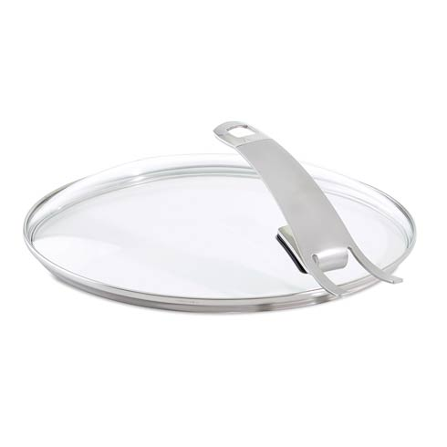 "$64.95 Premium 11"" Glass Lid with Integrated Holder"