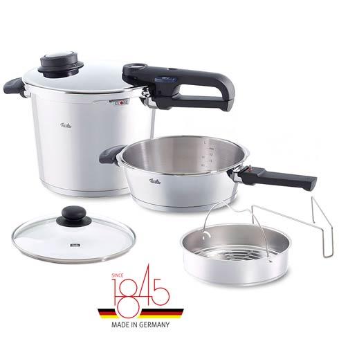 $399.95 Vitavit Premium Pressure Cooker 6-Piece Set, 6.4 Qt & 2.7 Qt