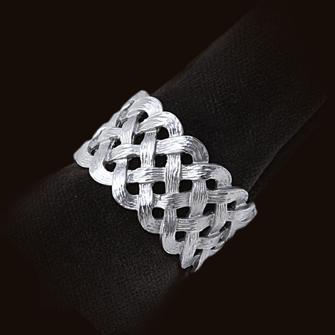 Platinum Braid Napkin Rings s/4 collection with 1 products