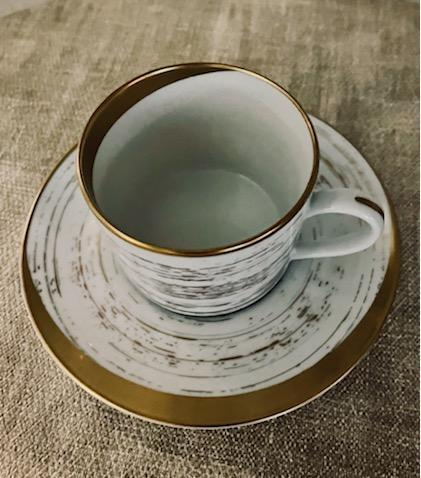 Fisherman\'s Wife Exclusives   Jubilee Wind Ultra White Cup/Saucer $154.00