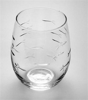Rolf Glass  School of Fish Stemless Wine $13.00