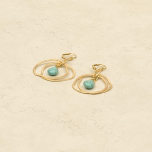 Ameoba Silver/Turq. Earrings collection with 2 products