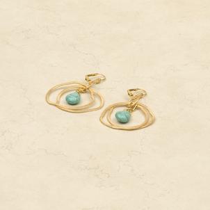 Ameoba Silver/Turq. Earrings