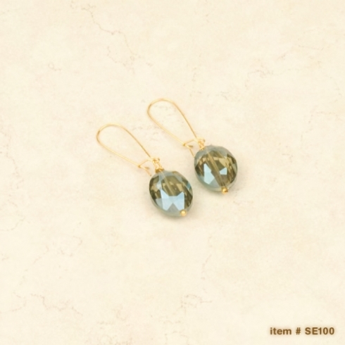 Ombre crystal earrings - Drop Silver collection with 2 products