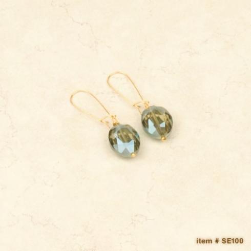 Ombre crystal earrings - Drop Silver