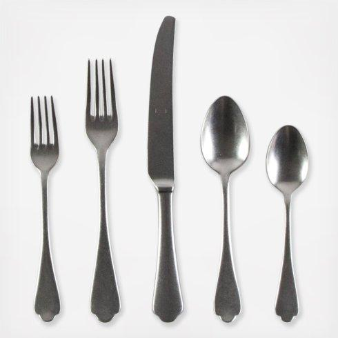 $71.00 Dolce Vita Pewter 5 piece place setting
