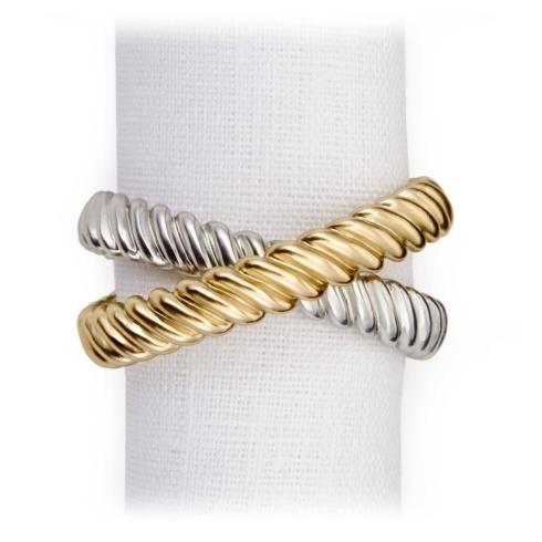 $125.00 Deco Twist Napkin Jewels (Set of 4)