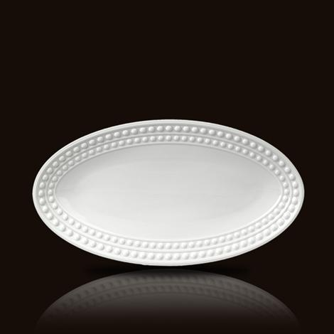 Perlee White  Small Oval Platter collection with 1 products