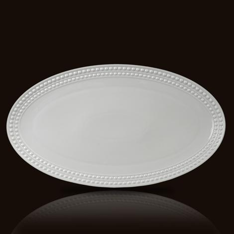 Perlee White Large Oval Platter collection with 1 products