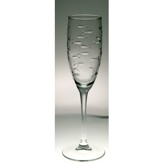 Rolf Glass  School of Fish Champagne  Flute $13.00