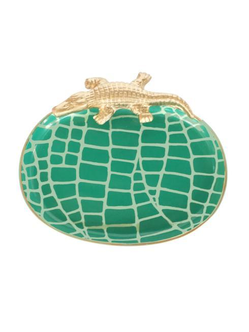 $85.00 Small Crocodile Tray- Green